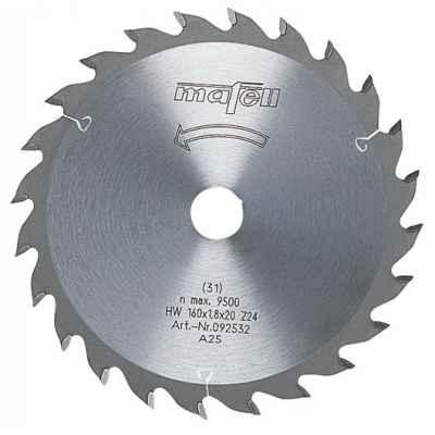 Пильный диск-HM 160 x 1,2/1,8 x 20 мм, 24 зуба, WZ - 092533