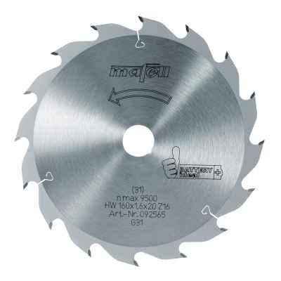 Диск пильный-HM, 160 x 1,1/1,6 x 20 мм, Z 16, FZ/FA - 092565