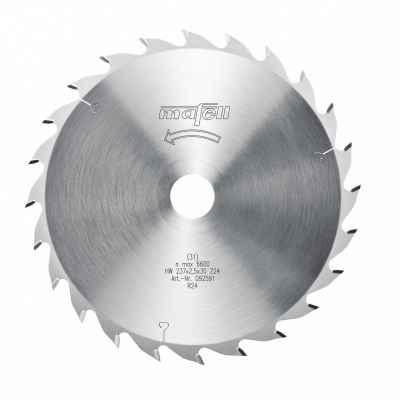 Диск пильный-HM, 237 x 1,8/2,5 x 30 мм, Z 24, WZ - 092591