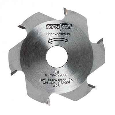 Фреза дисковая 100 x 22 мм, 6 зубьев, НМ - 076905