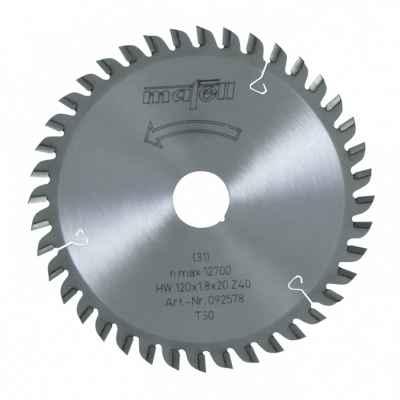 Пильный диск-HM 120 x 1,2/1,8 x 20 мм, 40 зубьев, TR - 092578