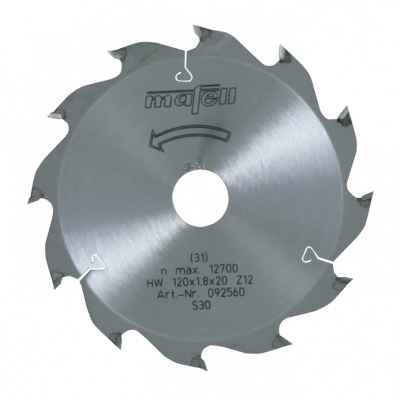 Пильный диск-HM 120 x 1,2/1,8 x 20 мм, 12 зубьев, WZ - 092560
