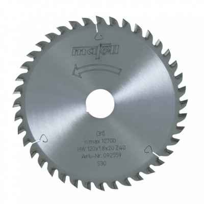 Пильный диск-HM 120 x 1,2/1,8 x 20 мм, 40 зубьев, FZ/TR - 092559