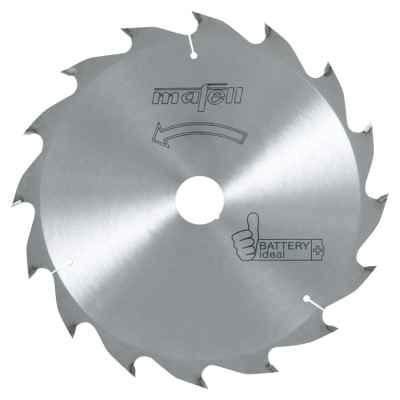 Пильный диск-HM 185 x 1,2/1,8 x 20 мм, 16 зубьев, WZ, Battery ideal - 092494