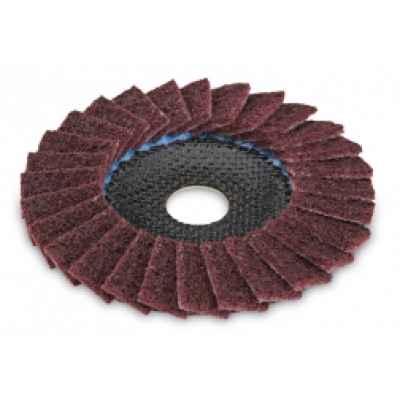 Шлифовальный лепестковый диск SC-VL из нетканого полотна для металла и нержавеющей стали, выпуклый FLEX 358.606