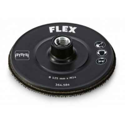 """Тарельчатый шлифовальный круг с покрытием-""""липучкой"""" для крепления шлифовальных средств 125, M14 """"Hook"""" FLEX 364.584"""