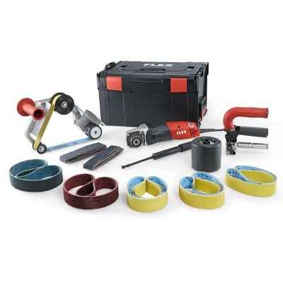 Сатинировальная машина и ленточная машина для шлифования труб FLEX BSE 14-3 INOX Set 230/CEE TRINOXFLEX 433.454