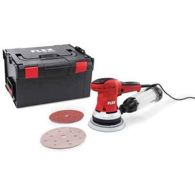 Мощная эксцентриковая шлифовальная машина с регулировкой частоты вращения в комплекте FLEX ORE 150-3 Set 230/CEE 379.603